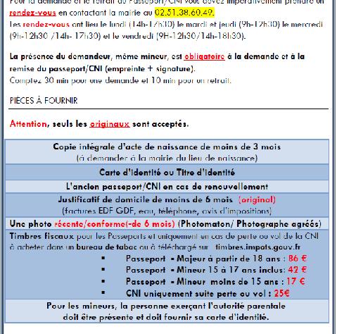 PASSEPORT / CARTE IDENTITE