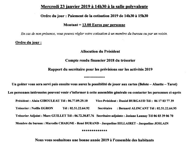 ASSEMBLÉE GÉNÉRALE FEUILLES D'AUTOMNE