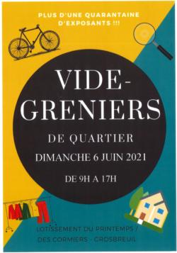 VIDE GRENIERS DE QUARTIER 6 JUIN 2021