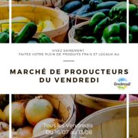 Affiche marché de producteurs été 2021
